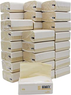 DrDirt Bamboo Facial Tissue Towels Paper in Bulk 36 Packs Refill Unscented Mini Travel Packs 3 Ply 110 Count 110 Sheets