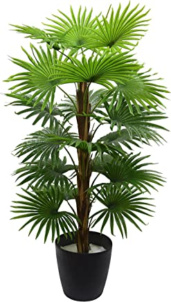 Fourwalls Decorative Artificial Palm Tree (18 Branches, 120 cm)
