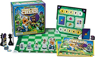 Story Time Chess - Beginner Story and Character Educational Chess Game - Starting at 3 Years Old - Dual Sided Pieces, 30 Mini Games