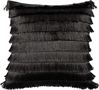 """Furn Flicker Cushion Cover-Polyester-Graphite-45cm x 45cm (18"""" x 18 inches), Polyester, Graphite, 45cm x 45cm (18"""" x 18"""" i..."""