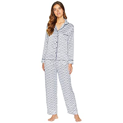 BLUEBELLA Roma Shirt and Trousers Pajama Set (Insignia Blue/Ivory) Women