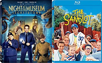 Family Collection Sandlot Baseball Kids Sport Feature & Night at the Museum 3 Secret of the Tomb Movie Bundle adventure Fun Double feature