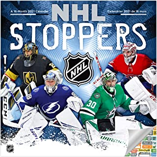 NHL Stoppers Calendar 2021 Bundle - Deluxe 2021 NHL Goalies Wall Calendar with Over 100 Calendar Stickers (NHL Goalies Gif...