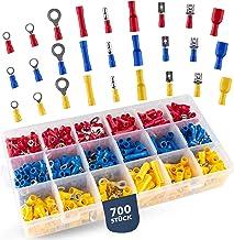 BAURIX® Kabelschoenen, set van 700 stuks, assortiment met knelverbindingen, steekverbindingen, platte steekhulzen, ringkab...