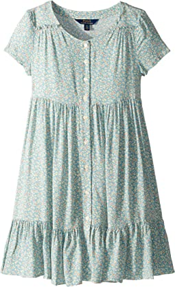 Shirred Floral Dress (Big Kids)