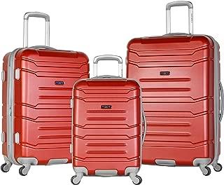 Denmark 3 Piece Luggage Set, Wine