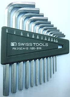 PB Swiss Tools Hex Key Set, chrome-plate, sizes 1/20