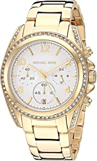Blair Chronograph Stainless Steel Watch with Glitz Accents