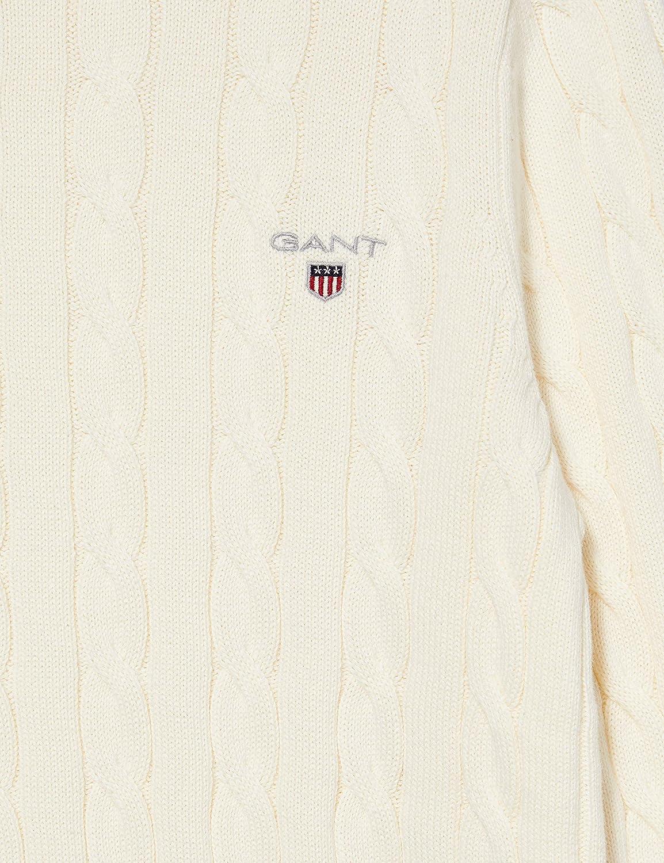 GANT Cotton Cable C-Neck Su/éter para Hombre