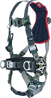 Miller RKNARRL-TB-BDP/UBK Revolution Arc Rated Harness with Kevlar-Nomex Webbing, Removable Belt, Side D-Rings and Pad, Rescue Loop and Tongue Leg Buckles, Black, Universal Size (Large/XL)