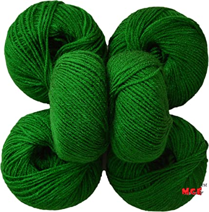 Vardhman Acrylic Knitting Wool, Pack of 6 (Green) (Pack of 6)