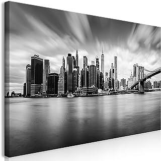 murando Cuadro Mega XXXL New York 160x80 cm Cuadro en Lienzo en Tamano XXL Estampado Grande Gigante Imagen para Montar por uno Mismo Decoración De Pared Impresión DIY NY City Ciudad d-B-0154-ak-e
