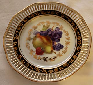 Winterling Bavaria Germany reticulated fruit decorated plate