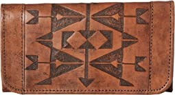 American West Crossed Arrows Trifold Wallet