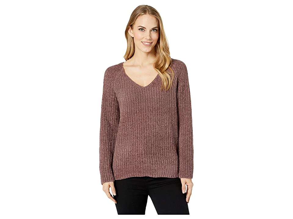 Lucky Brand Chenille Sweater (Rose/Taupe) Women