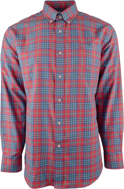 Men's Classic 55% OFF Fit Button Deluxe Down Shirt Plaid
