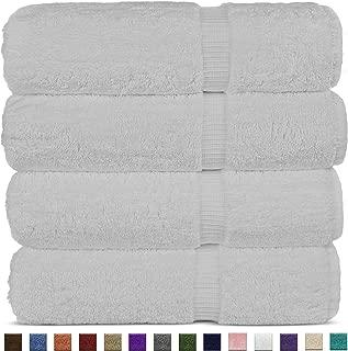 Chakir Turkish Linens Luxury Hotel & Spa Bath Towel Turkish Cotton (Set of 4, White)