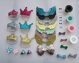 LPS Accessories Lot Wings Earring Bows Crown Magic Hat Lollipop Cake Random 10 PCS 10pcs Random Gift Bag for LPS Cat Collie Great Dane Dachshund Dog Cocker Spaniel Puppy