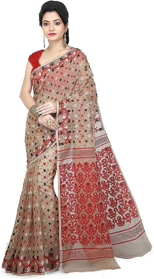 Indian WoodenTant Women's Cotton Silk Saree Saree