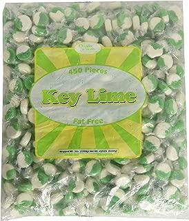 Key Lime Green & White Hard Candy Discs - 5 Lb. Bag
