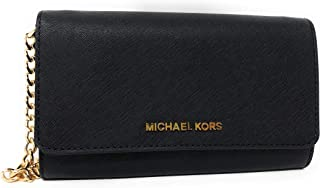 86d8306aec4b Michael Kors Jet Set Travel Saffiano Leather Small Crossbody Bag Purse  Handbag Iphone Smart Phone Holder