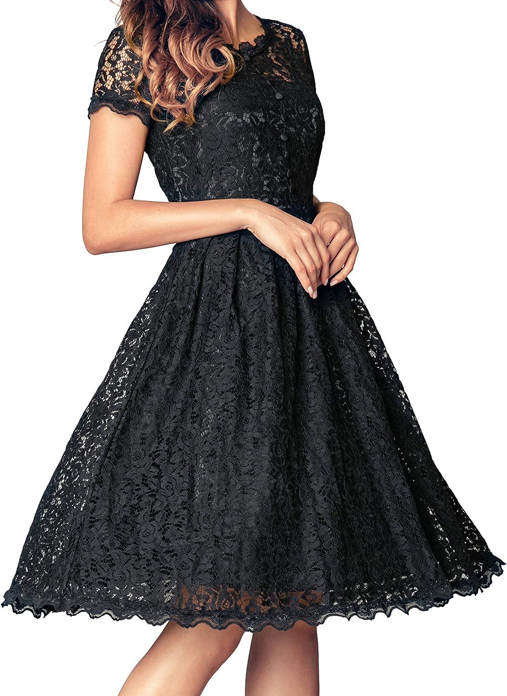 Angerella Retro Dresses For Women Vintage Classy Black Party Bridesmaid Dress