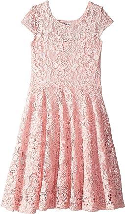 Aurora Lace Cap Sleeve Skater Dress (Big Kids)