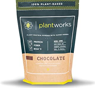 Sponsored Ad - Plant Works Nutrition - 100% Plant-Based Performance Protein Powder with Super Herbs - Non-GMO - 15 Serving...
