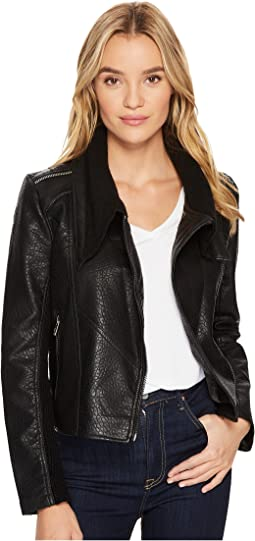 Blank NYC - Vegan Leather Crop Jacket in Box Of Rocks