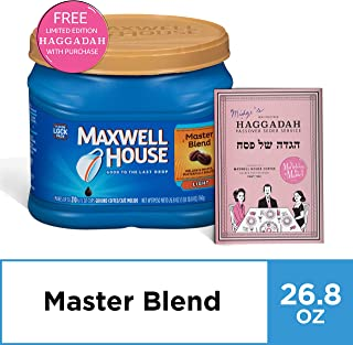 Maxwell House Master Blend Ground Coffee, 26.8 oz Canister and free The Marvelous Mrs. Maisel Limited Edition Passover Haggadah