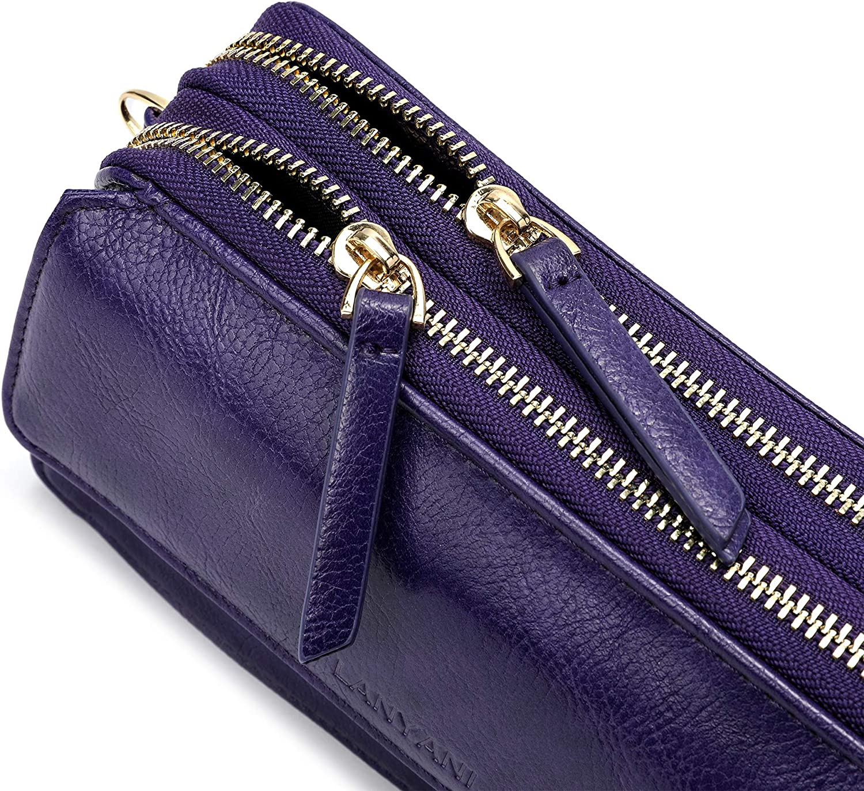 RFID Crossbody Wallet Wristlet Purse with Phone Pocket For Women Vegan Leather………