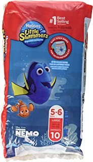 Huggies Little Swimmers Swim Nappy, Large (14+ KG) , 10 Pack - Packaging May Vary