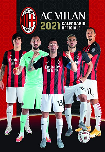 Calendario Calcio Ufficiale AC Milan (Serie A) 2021 (A3)