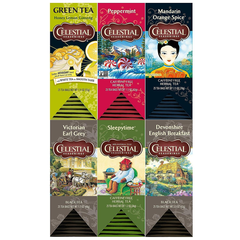 Celestial Seasonings Food Service Tea Variety Pack, 6 Count