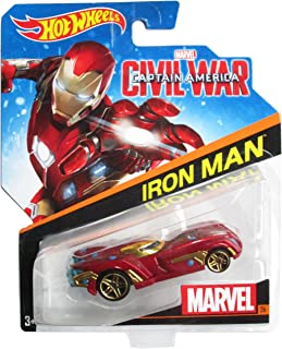 Hot Wheels, Marvel Character Car, Iron Man (Civil War) #26