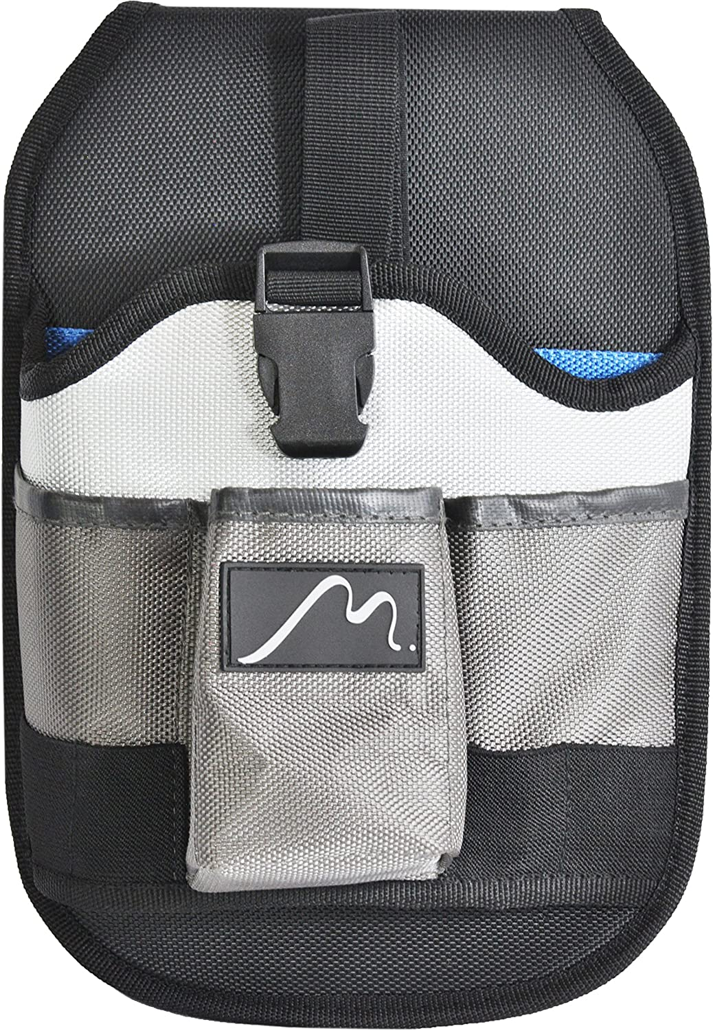 Cordless Drill Holster by Metier Life   Magnetic Organizer Pouches for Drill Bits and Extenders   Large Open Pocket for Screws and Accessories   Left or Right Handed Use (Grey)