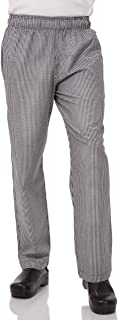 Chef Works Men's Essential Check Baggy Chef Pants
