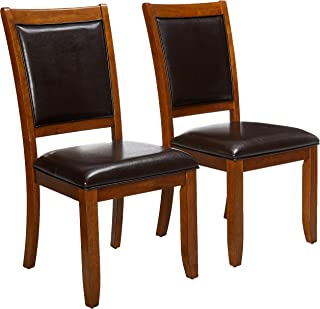 Nelms Upholstered Side Chairs Deep Brown and Black (Set of 2)