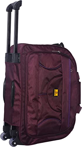 58 Litres Polyester Travel Duffle Soft Sided Duffel With Wheels Wine Purplr 58 Cm Set 0F 1 Pcs Bags