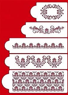 Designer Stencils C490 Fleur De Lis Cake Stencil Set, Beige/semi-transparent