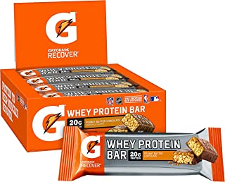 Gatorade Whey Protein Recover Bars, Peanut Butter Chocolate, 2.8 ounce bars (12 Count)