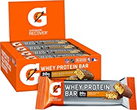 Sponsored Ad - Gatorade Whey Protein Recover Bars, Peanut Butter Chocolate, 2.8 ounce bars (12 Count)
