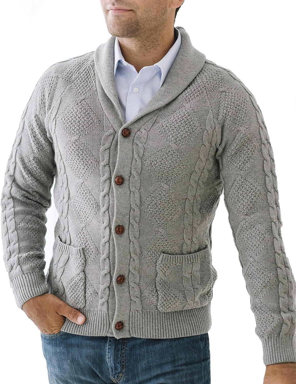 Hope Henry Men's Long Sleeve Cardigan Max 42% OFF Shawl Sweater Collar Popular standard