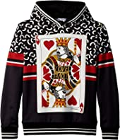 Dolce & Gabbana Kids - King of Hearts Hooded Sweatshirt (Big Kids)