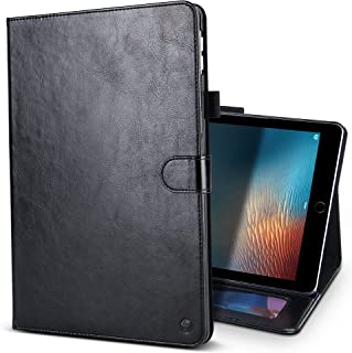 B BELK iPad Pro 12.9 2017 Case, Elegant Retro Series Scratch-Resistant Leather Folio Flip Stand Cover Case With Card Slots & Pencil Holder & Magnetic Wake/Sleep For iPad Pro 12.9 Inch 2017