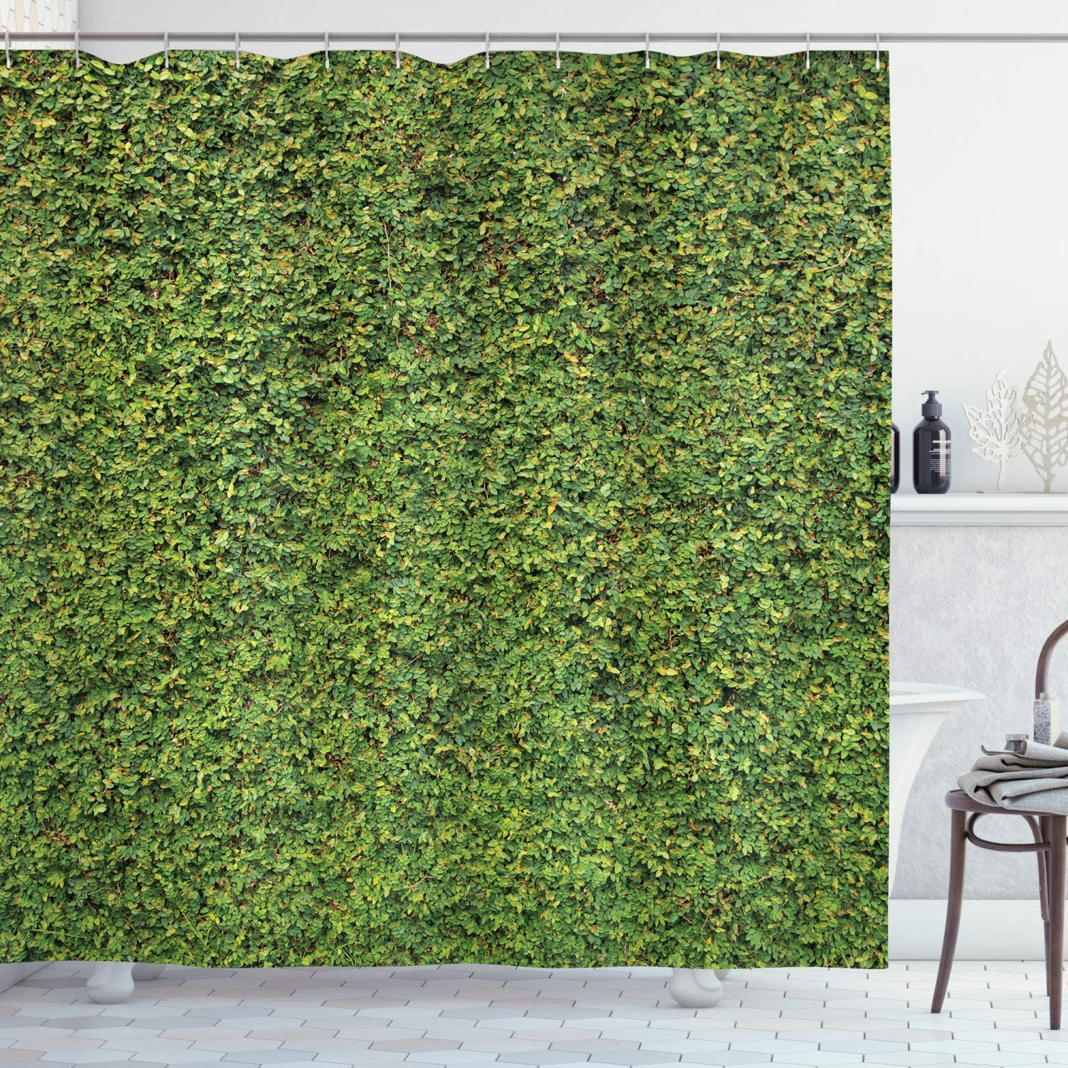 Lunarable Boxwood Hedge Shower Curtain S Courier shipping free Foliage Reservation Nature Awaking