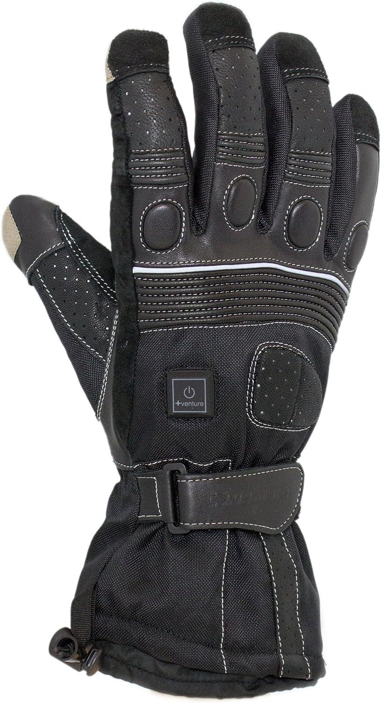 VentureHeat 12V Heated Grand Touring Motorcycle Gloves Black, X-Large