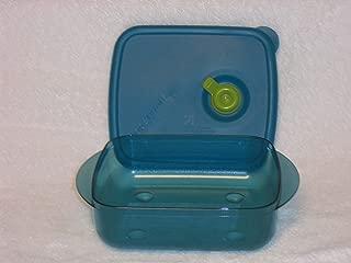 Tupperware Vent N Serve Medium Shallow 2.5 Cups Blue