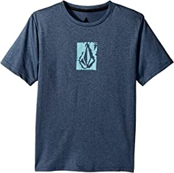 Volcom Kids Lido Pixel Heather Short Sleeve Thrashguard (Big Kids)