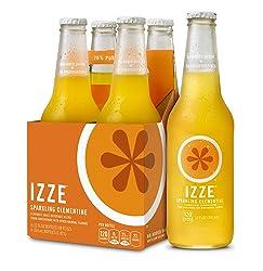 IZZE Sparkling Juice, Clementine, 12 oz Glass Bottles, 4 Count